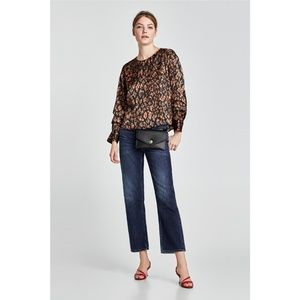 NWT Zara SS18 Size S Satiny Flowing Blouse